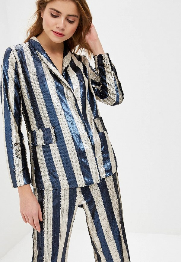 женский пиджак lost ink, синий