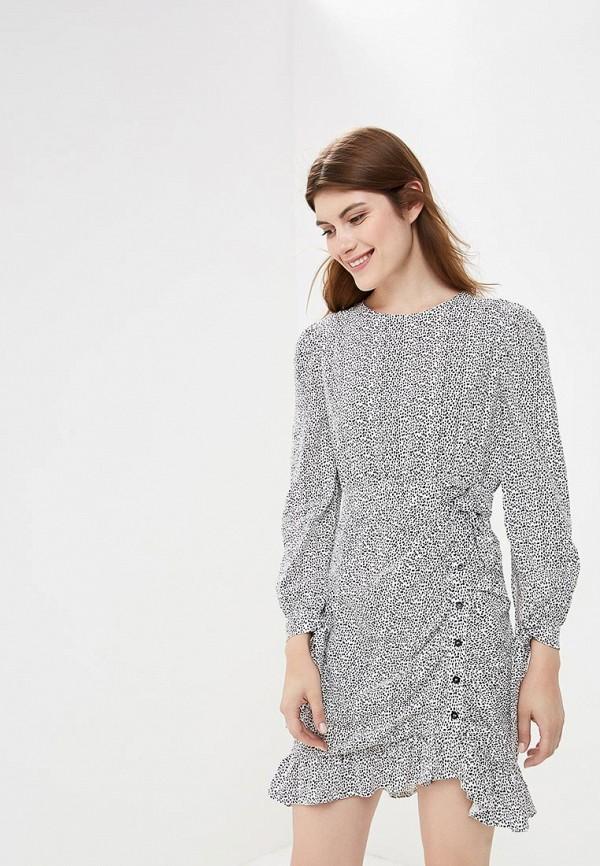 Купить Платье LOST INK, Animal Print mini Dress, lo019ewccqf4, белый, Осень-зима 2018/2019