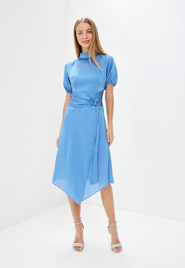 женское вечерние платье lost ink, голубое