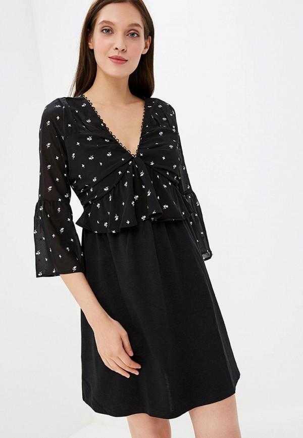 женское повседневные платье lost ink, черное
