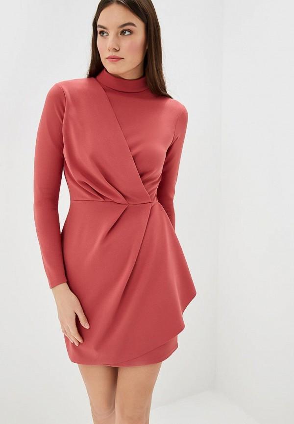 Купить Платье LOST INK, SPARKLE MINI WITH HIGH NECK, lo019ewccqk8, розовый, Осень-зима 2018/2019