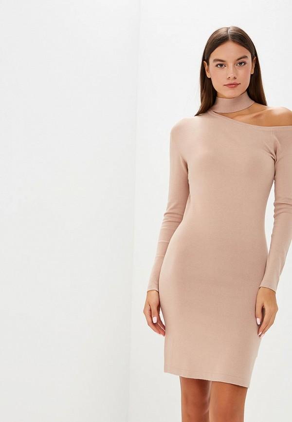 женское платье lost ink, бежевое