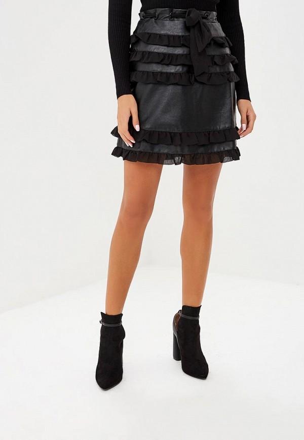 женская юбка lost ink, черная