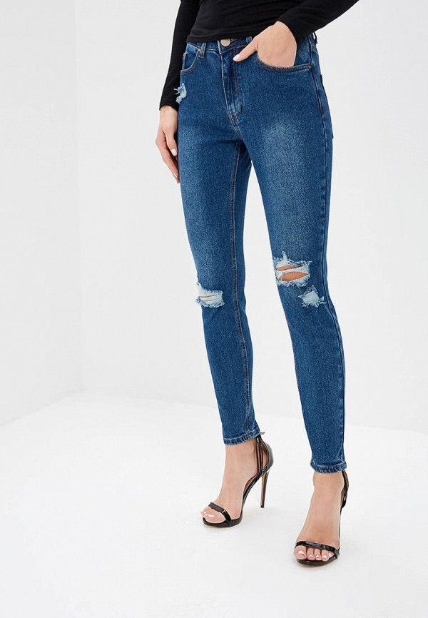 женские джинсы бойфренд lost ink, синие