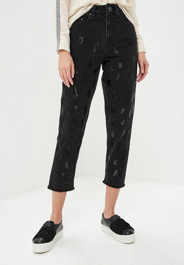 женские джинсы бойфренд lost ink, черные