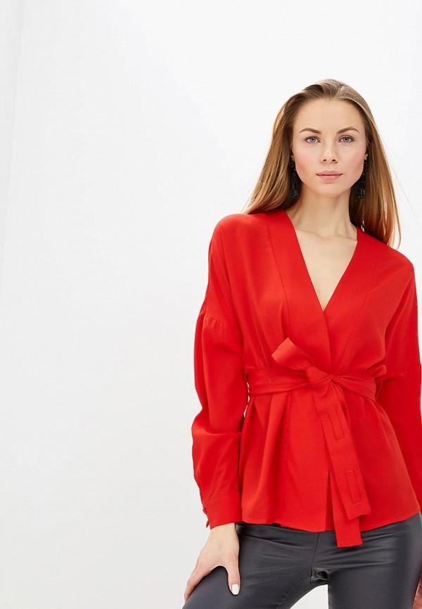 женская блузка lost ink, красная