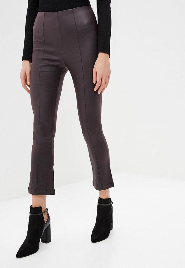 женские повседневные брюки lost ink, фиолетовые