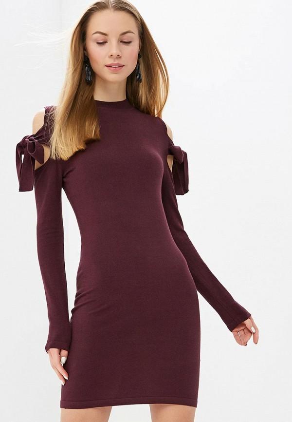 женское платье lost ink, бордовое