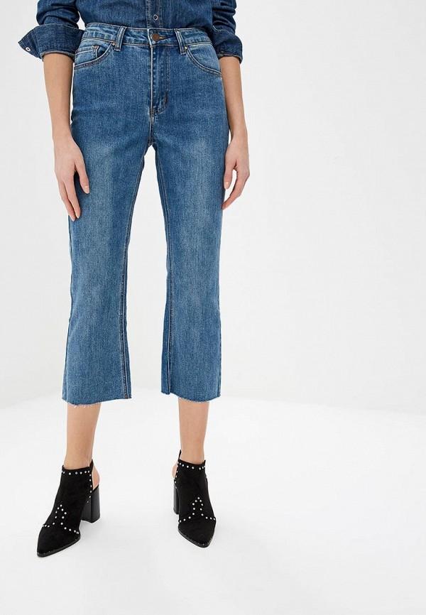 женские прямые джинсы lost ink, синие