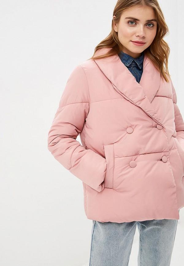 женская куртка lost ink, розовая
