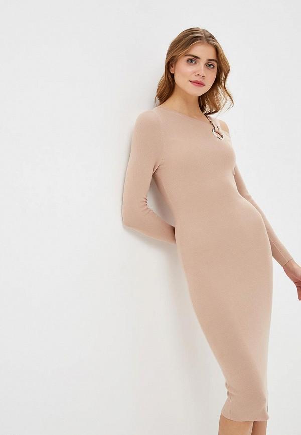 женское повседневные платье lost ink, бежевое