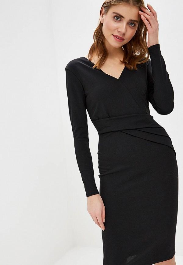 женское платье-футляр lost ink, черное