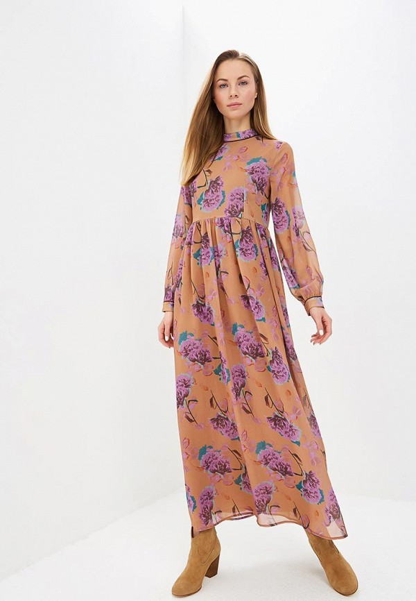женское повседневные платье lost ink, коричневое