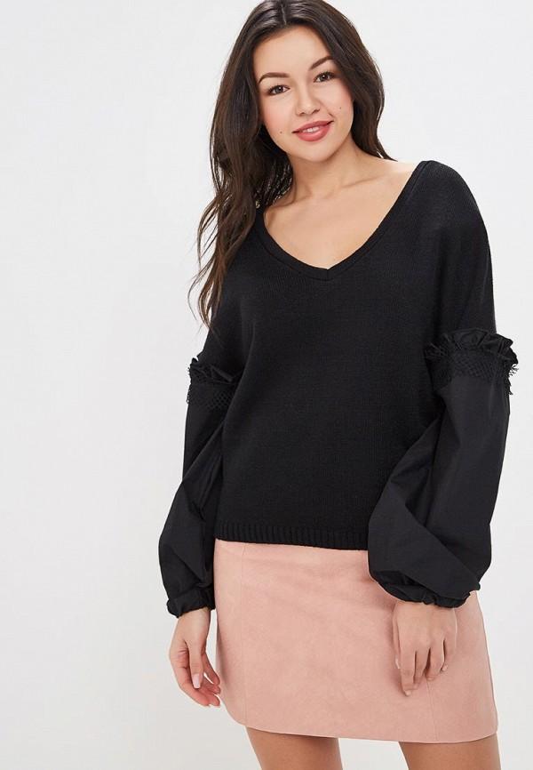 женский пуловер lost ink, черный