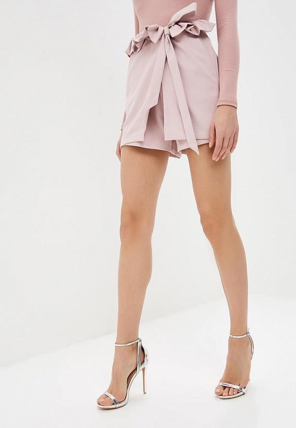 женская юбка lost ink, розовая