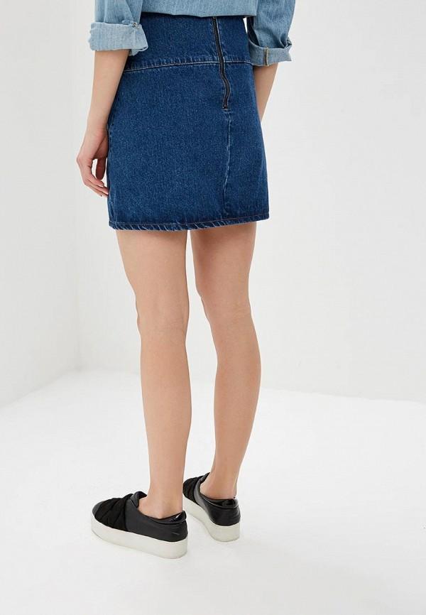 Фото 3 - Юбку джинсовая Lost Ink синего цвета