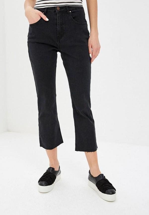 женские прямые джинсы lost ink, черные