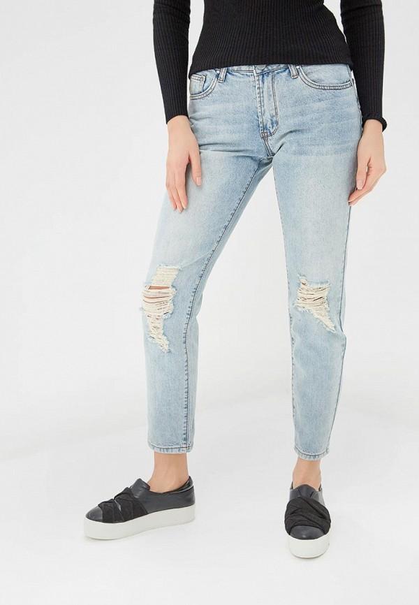 женские джинсы бойфренд lost ink, голубые