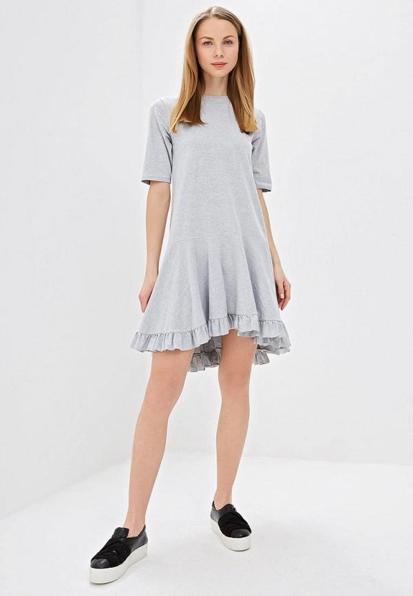 Фото 2 - Платье Lost Ink серого цвета
