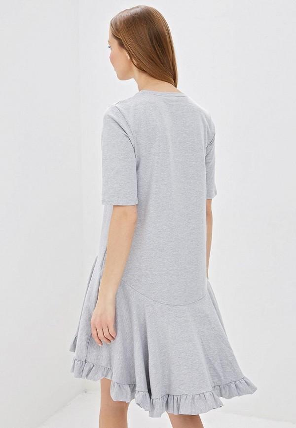 Фото 3 - Платье Lost Ink серого цвета