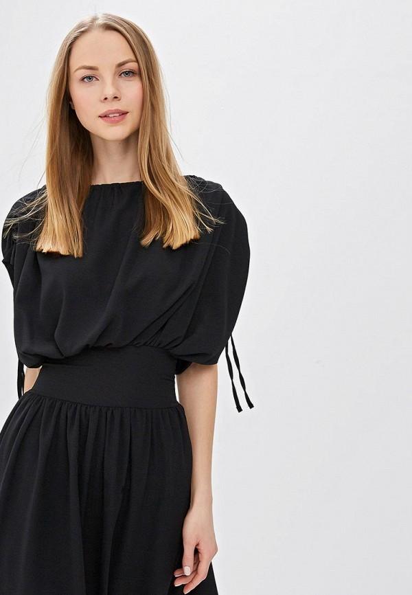 Фото 2 - женское платье LOST INK черного цвета
