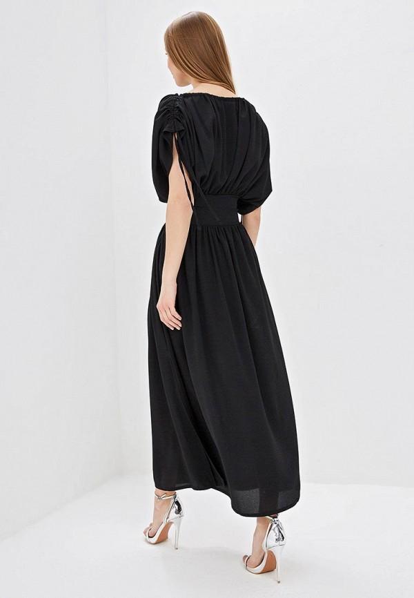 Фото 3 - женское платье LOST INK черного цвета