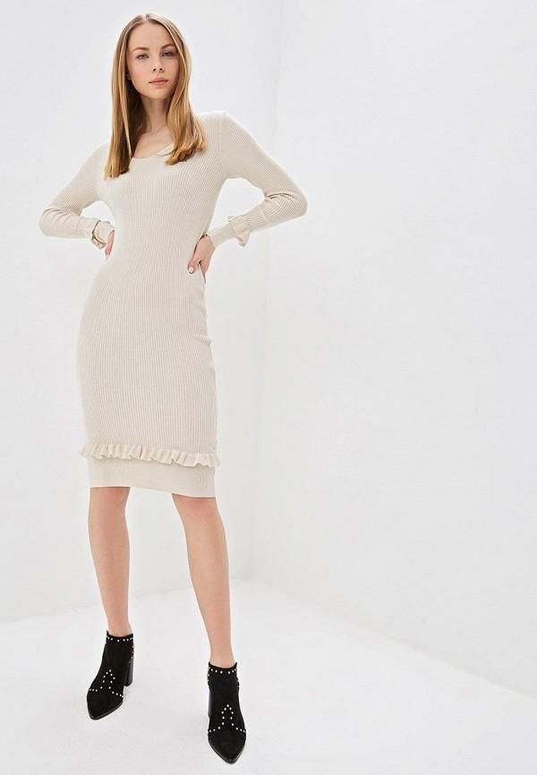 Фото 2 - женское платье LOST INK бежевого цвета