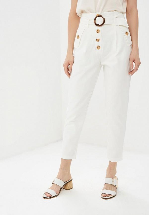 женские повседневные брюки lost ink, белые