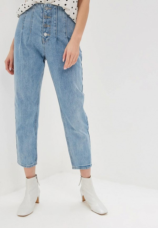 женские джинсы клеш lost ink, синие