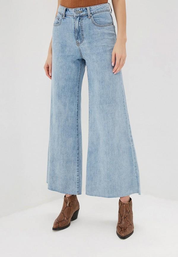женские джинсы клеш lost ink, голубые