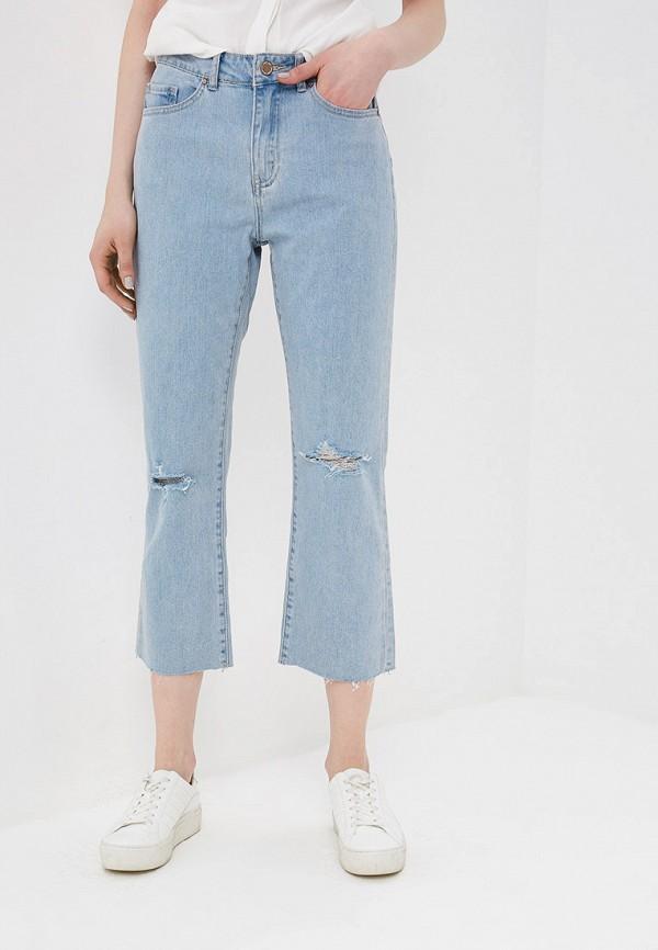 женские прямые джинсы lost ink, голубые