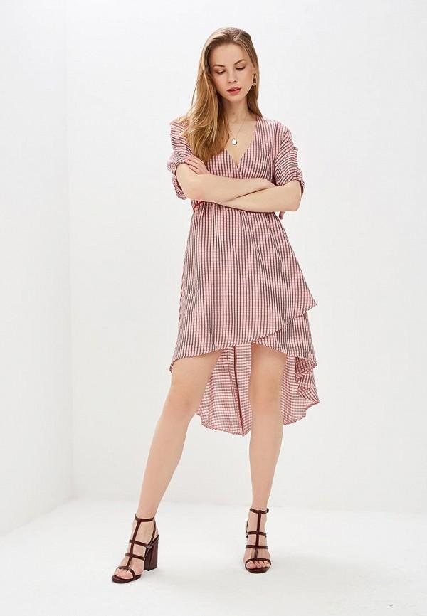 женское повседневные платье lost ink, розовое
