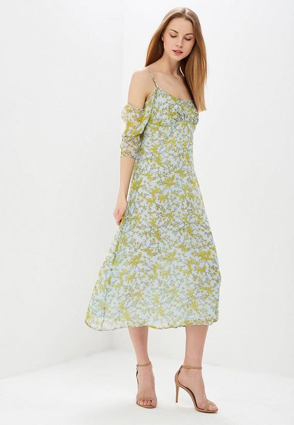 женское повседневные платье lost ink, голубое