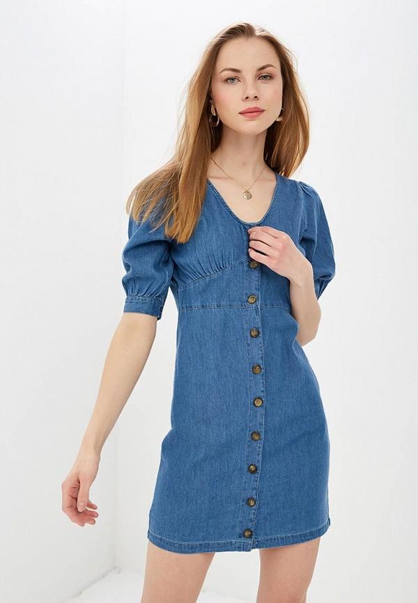 женское джинсовые платье lost ink, синее