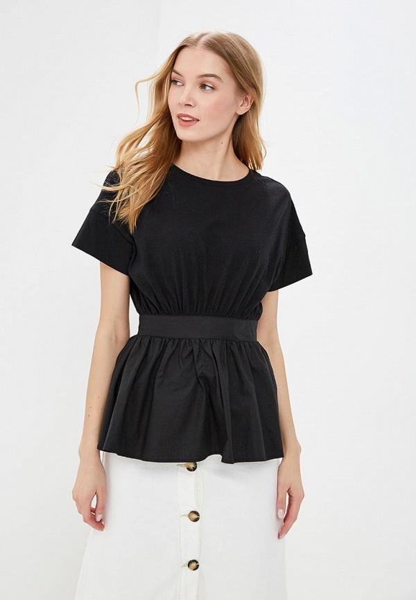 женская футболка lost ink, черная