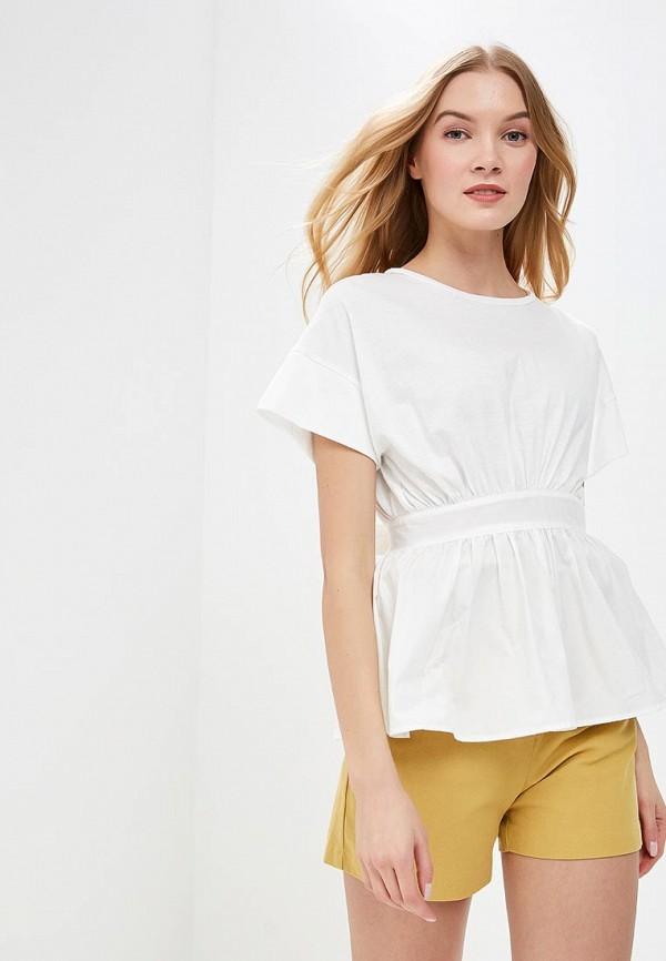 женская футболка lost ink, белая