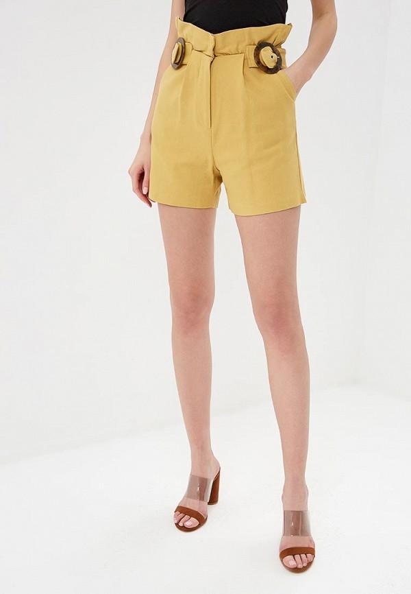 женские повседневные шорты lost ink, желтые