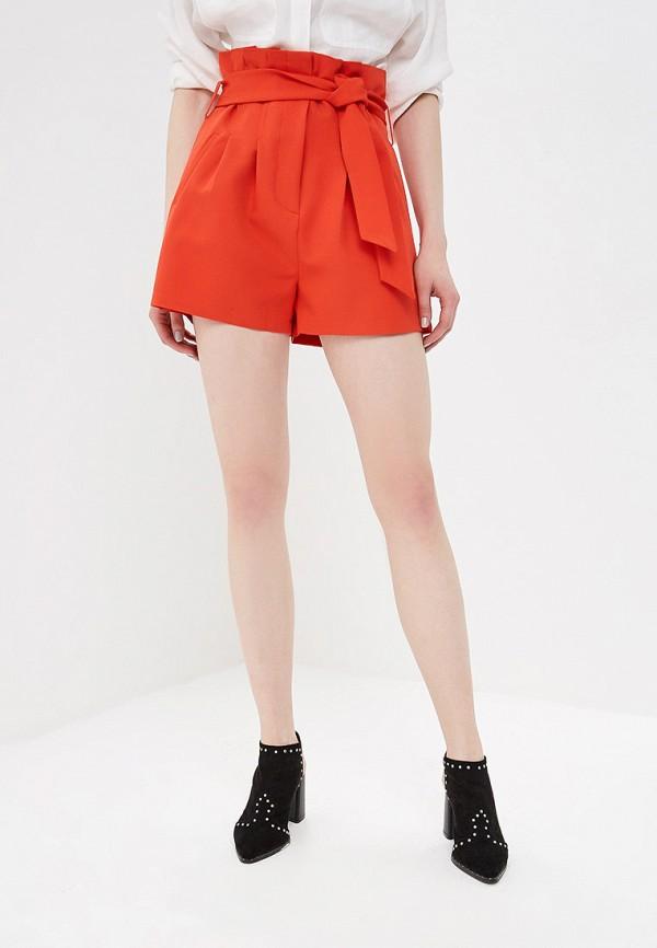 женские повседневные шорты lost ink, красные