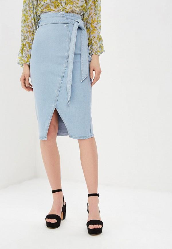 женская джинсовые юбка lost ink, голубая