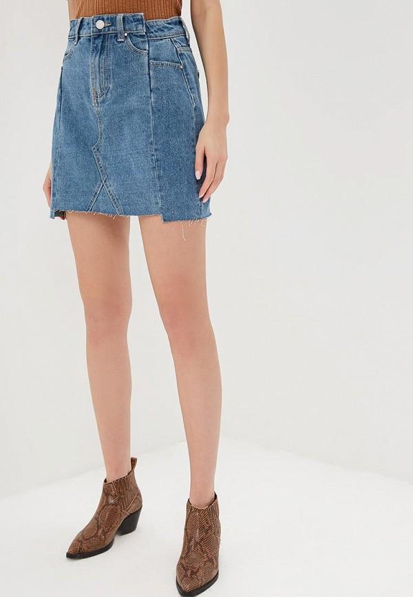 женская джинсовые юбка lost ink, синяя