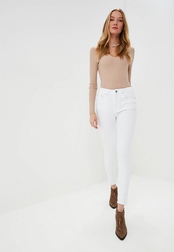 Фото 2 - женские джинсы LOST INK белого цвета