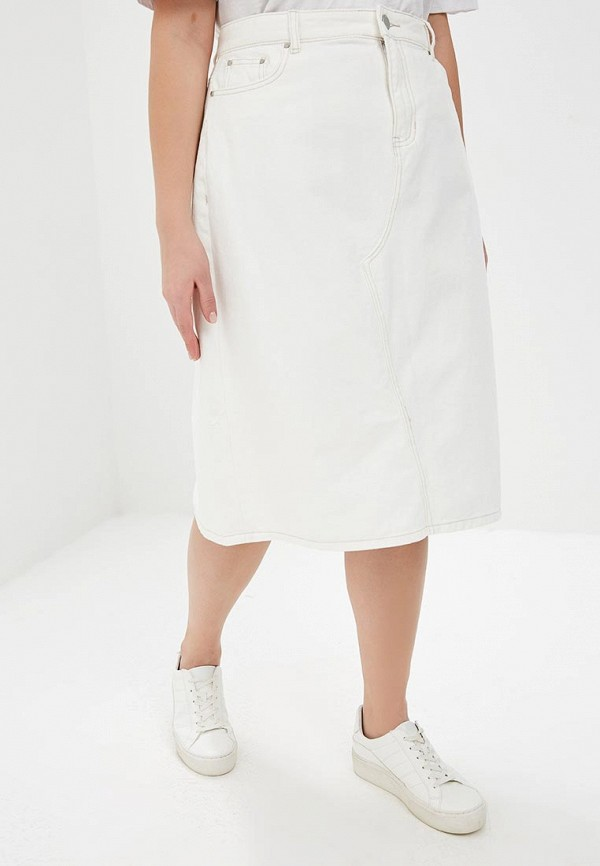 женская джинсовые юбка lost ink, белая