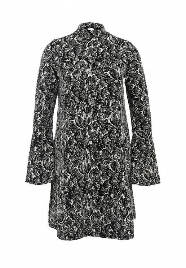 Купить Платье LOST INK, JULIE FLARED SLEEVE SWING DRESS, LO019EWFUQ39, серый, Осень-зима 2015/2016