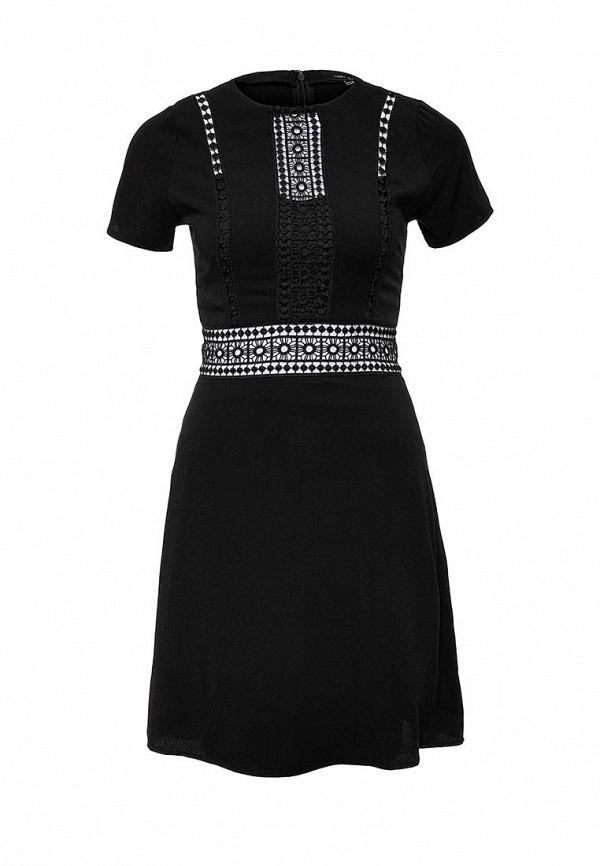 Купить Платье LOST INK, KAYLEE LADDER INSERT SHORT SLEEVE DRESS, LO019EWGSR73, черный, Осень-зима 2017/2018