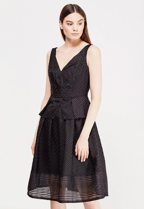 Купить Платье LOST INK, GABRIELLA TEXTURED STRIPE DRESS, lo019ewjow15, черный, Весна-лето 2017