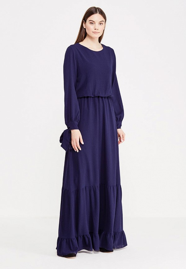 Купить Платье LOST INK, UNIL TEXTURED MAXI DRESS, LO019EWMWW41, синий, Весна-лето 2017