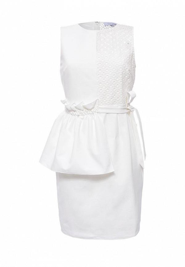 Купить Платье LOST INK, BEA PEPLUM BRODERIE DRESS, LO019EWNTC37, белый, Весна-лето 2017