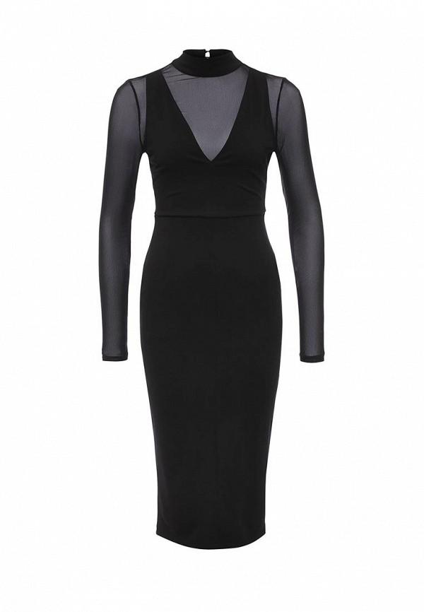 Купить Платье LOST INK, LOIS HIGH NECK MESH DRESS, LO019EWOGY26, черный, Осень-зима 2016/2017