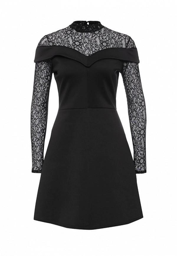Купить Платье LOST INK, JOSHI LACE SCUBA DRESS, LO019EWOGY51, черный, Осень-зима 2016/2017