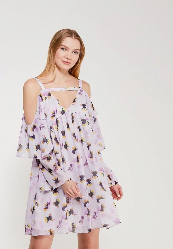 Купить Платье LOST INK, EDIE PANSY PRINT, lo019ewosg62, фиолетовый, Осень-зима 2017/2018